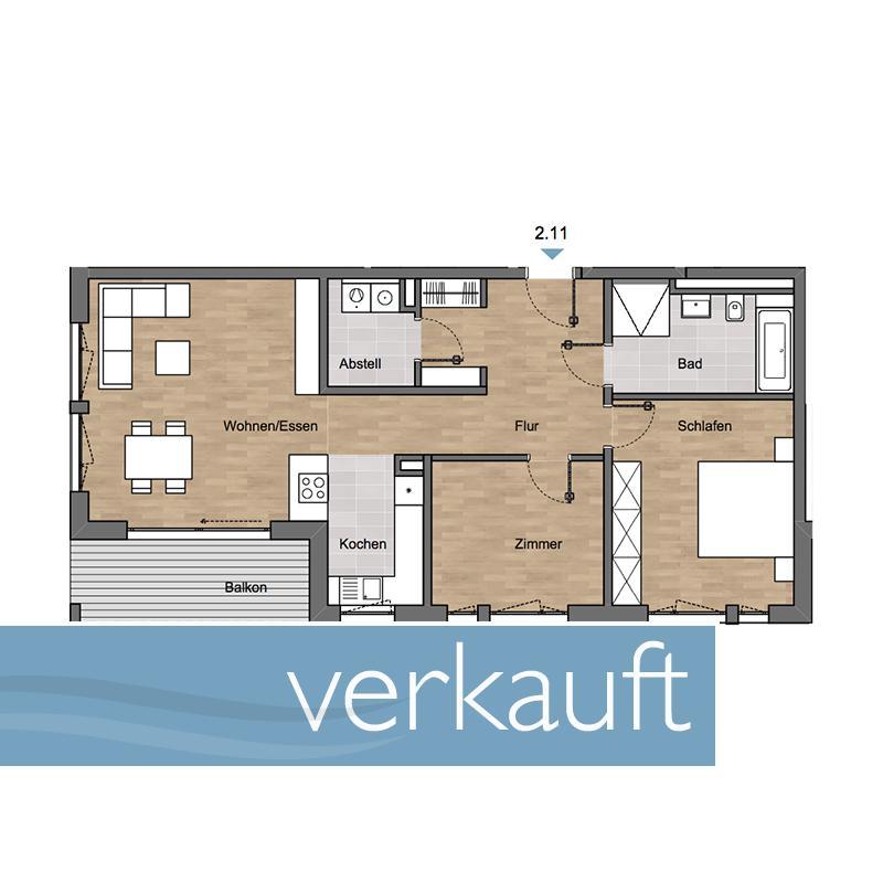 Grundrisse Der Zum Verkauf Stehenden Wohnungen Im Neuen Wohngebiet